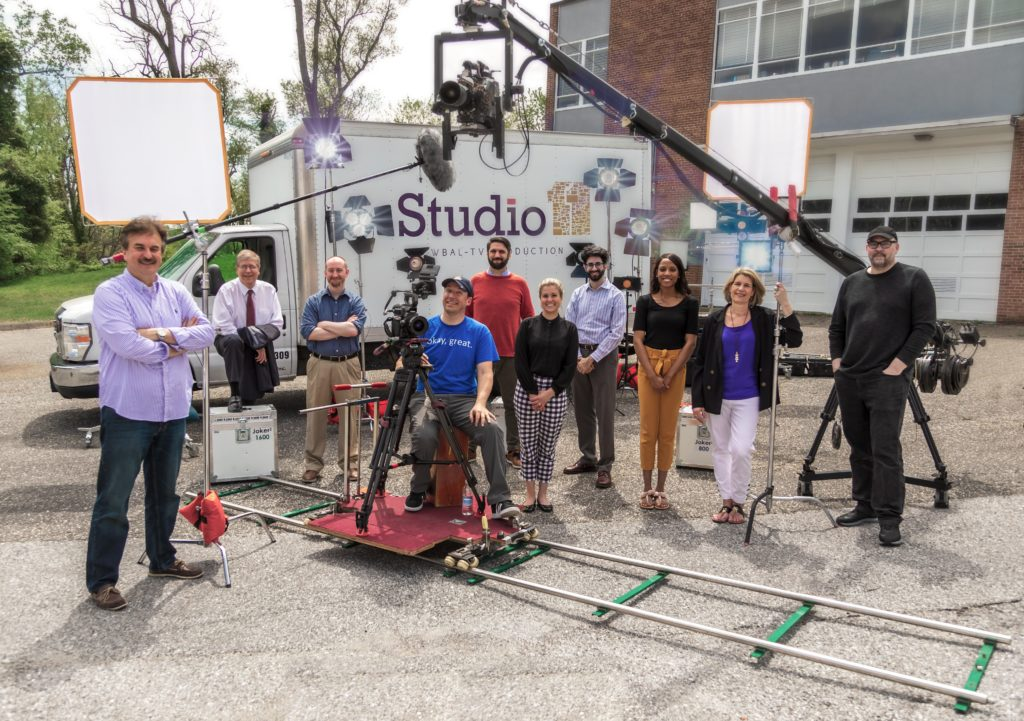 The Studio11 Team in 2019 with 18 foot Jib, dolly with 50 feet of track, Don Horner, John Baldwin, Tracey Seifert, Eric Blair, Michael French, and more